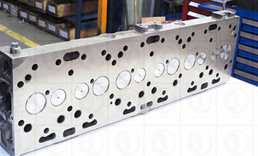Freshly machine cylinder head